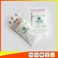 LDPE Clear Medical Ziplock Pill Bags For Hospital / Drugstore Disposable