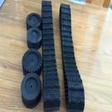 Best 100mm Width Rubber Tracks for Robot (100*20*76) wholesale