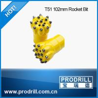 Quality Drilling rock tools T38 T45 T51 102mm rocket drill button bit wholesale