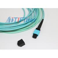 12 Core OM3 OM4 MPO Multimode Fiber Patch Cable for Telecom Network