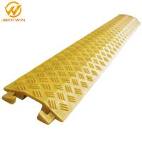 Quality Yellow Single Channel Floor Core Cable Protector Ramp Indoor Usage For Promotion wholesale