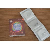 Quality Natural Latex Ribbed And Dotted Condoms With Fruit Flavoured 3PCS / Box wholesale