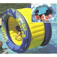 Quality Outdoor Big Inflatable Water Roller Ball With Slides , EN71 / SGS / CE / UL Certificate wholesale