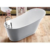 Quality Classic Resin Acrylic Free Standing Bathtub With Faucet Oval Shaped wholesale