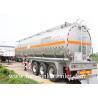 30 - 60CBM Aluminum Alloy Fuel Crude Oil Tanker Trailers 50000 Liters
