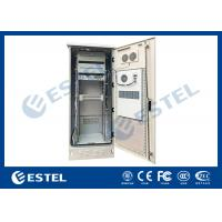 Quality Single Wall Stainless Steel Heat Insulation 38U Outdoor Telecom Cabinet 750x700x2000  With DC Air Conditioner wholesale