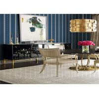 Quality Striped Pattern American Style Wallpaper Waterproof For Living Room , SGS CE Listed wholesale