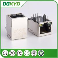 IEEE 10 / 100 BASE Network RJ45 Modular Connector With LED, Front And Back Pin
