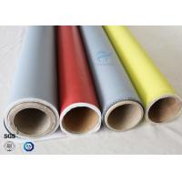Buy cheap 260℃ Fire Protection 0.5mm E-glass Silicone Coated Fiberglass Fabric Satin Weave from wholesalers