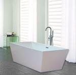 Quality Narrow Edge Portable Acrylic Freestanding Bathtub With End Drain Lightweight wholesale