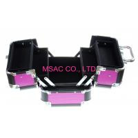 Quality Purple Aluminum Cosmetic Cases With Lock for Display , ABS Cosmetic Cases wholesale