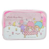 Cheap 0.25mm Transparent Zipper Cosmetic Bags Cartoon Character Pattern For Travelling for sale