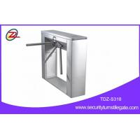 Best Stainless steel pedestrian barrier , semi automatic tripod turnstile with mifare reader wholesale