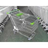 Quality 180 Liter Steel Wire Grocery Store Shopping Cart , 4 Wheel Shopping Trolley wholesale