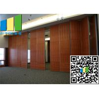 Moving Baffle Sliding Folding Partition Walls Aluminium Frame Panel With Door
