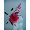 Quality Red Ladies Sinamay Fascinator Hats / Ladies Sinamay Church Hats wholesale