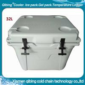 Best 32L plastic rotomold ice cube white cooler box wholesale