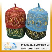 Quality Women And Men Wool Felt Islamic Cap Embroidery Muslim Hat wholesale