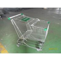Quality Asian Style 180 Liter Steel Wire Shopping Trolley With Handle Logo wholesale