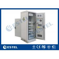 Quality Temperature Control Custom Made Antitheft Outdoor Telecom Cabinet With Front Door And Back Door wholesale