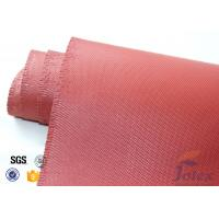 """Quality Red Silicone Coated Fiberglass Fabric Engine Thermal Insulation 1mm 30oz 39"""" wholesale"""
