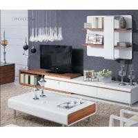 White High Gloss Living Room Furniture Wall Unit Coffee Table Non Toxic Material