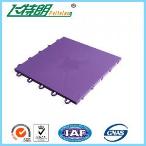 Basketball / Volleyball / Tennis Court Interlocking Rubber Floor Tiles 304.8×304.8×12.2 mm