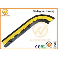 Best 90 Degree Rubber Corner Cable Protector Ramp / 2 Channel Cable Protector wholesale