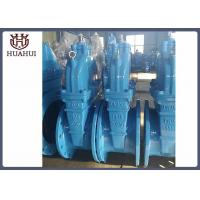 Blue Resilient Seated Gate Valve With Brass Sealing Face Ring DIN 3352 Valve Design