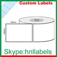 Quality Custom Thermal Label 102mmX150mm/1 Plain D/Therm Top Perm, Perf, 1000Lpr 76mm Core wholesale