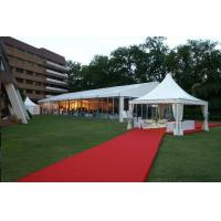 Large Outdoor Wedding Tent White PVC Coated Fabric Self Cleaning / Fireproof