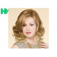 Quality Blond High Temperature Fiber Side Part Wave Synthetic Hair Wigs For Women wholesale