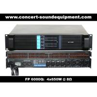 Best 4 Channel Switch Mode Amplifier / 4x650W FP 6000Q For Stage Monitor And Small Line Array Speaker wholesale
