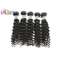 Best 8 inch To 38 inch Indian Deep Wave Virgin Human Hair Weaves No Tangle And Shed wholesale
