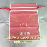 Quality Moisture Proof Red Frosted Printed Drawstring Bags Fit Christmas Gift wholesale