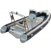 Best 520cm ORCA  Hypalon  inflatable rib boat rib520 sunbed fuel tank with big  center console butterfly anchor wholesale