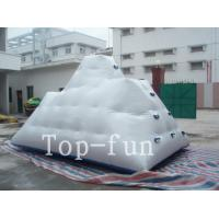 Quality Backyard Inflatable Water Park Iceberg For Lake / River / Swimming Pools wholesale