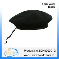 Quality fashion black women cheap military beret wholesale