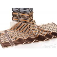 Portable Cotton Bath Towels Stripe With Embroidery Logo DR-BT-03