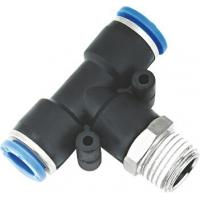 T Type Pneumatic NPT Threaded Fittings , Pneumatic Push Fit Connectors