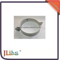 Best White Painting Down Pipe Clamps Galvanised Tube Clamps With Riveted Fixed Nut M8 wholesale