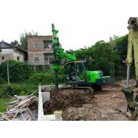 Buy cheap TYSIM Mini Hydraulic Piling Rig with 4T Max Rotary Torque Foundation Construction Drilling Rig from wholesalers