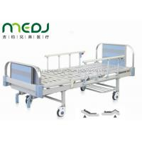 Cheap Double Crank Blue Hospital Bed Equipment MJSD05-09 With Four Ordinary Castors for sale