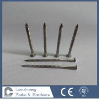Best A2 Stainless Steel Nails Ring Shank , Checkered Flat Head Nails 50MM x 2.8 wholesale