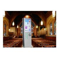 Quality Network Kiosk Multi Cell Phone Charging Station With Big Advertising Screen wholesale