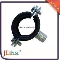 Best CEPDM Rubber Pad And Steel Zinc Plated Cast Iron Pipe Pipe Ring Clamp Rubber Line Clamp wholesale