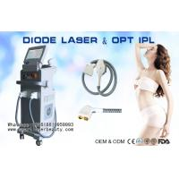 Quality 2 In 1 810nm Diode Laser Hair Removal Machine / OPT SHR IPL Hair Removal Equipment wholesale