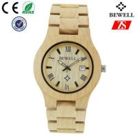 Quality Hign End Men Wooden Strap Watch Waterproof With Japan Battery , OEM ODM Service wholesale