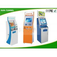 Cheap 22 Inch Indoor Multi Touch Self Service Kiosk Free Standing High Brightness for sale