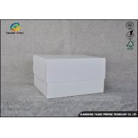 White Simple Design Cardboard Packaging Box For Cosmetic / Gift